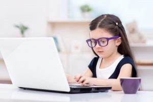 Entrepreneurial Girl at desk