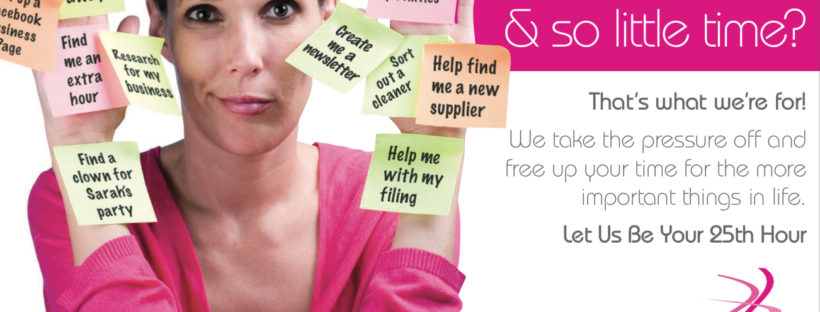 Lady running a pink spaghetti Virtual assistant franchise